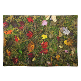 Autumn forest floor cloth placemat