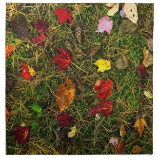 Autumn forest floor napkin