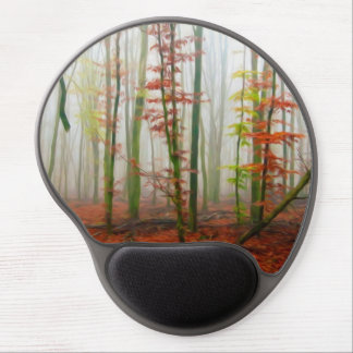Autumn forest gel mouse pads