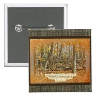 Autumn Forest George Washington Carver Quotation Pinback Buttons