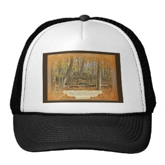 Autumn Forest George Washington Carver Quotation Trucker Hat