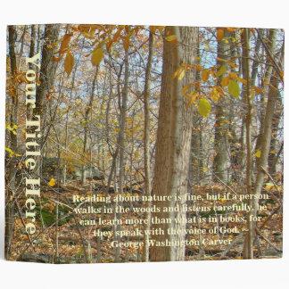 Autumn Forest George Washinton Carver Quotation Binder