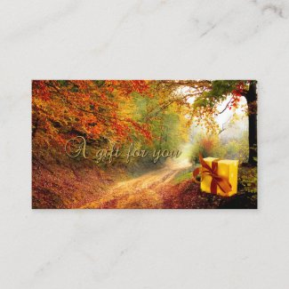 Autumn Forest Gold Gift Certificate