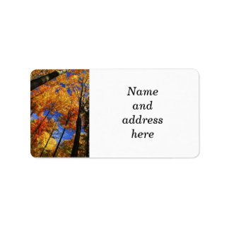 Autumn forest personalized address label