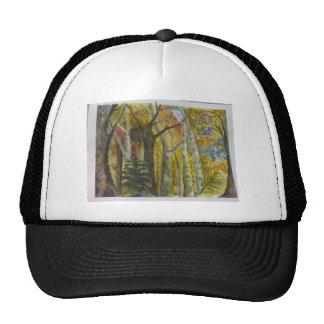 Autumn Forest Watercolor Trucker Hat