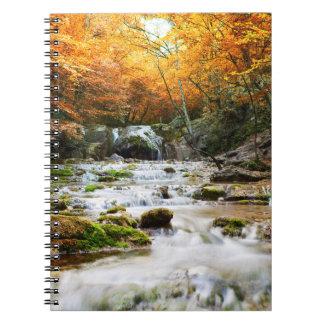 Autumn Forest Waterfall Notebook