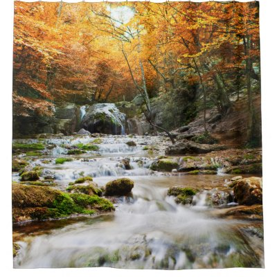 Colorful Fall Leaves Shower Curtain | Zazzle