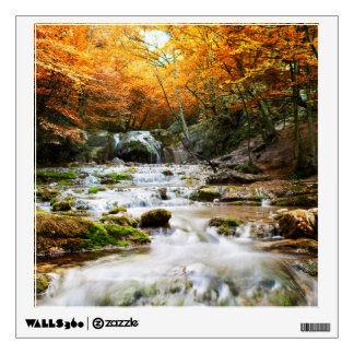 Autumn Forest Waterfall Wall Decal