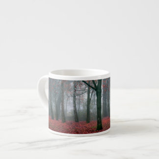 Autumn Forest with Red Leaves.beautiful landscape Espresso Cup