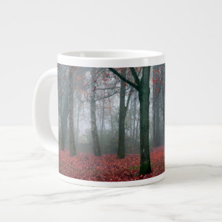 Autumn Forest with Red Leaves.beautiful landscape Large Coffee Mug