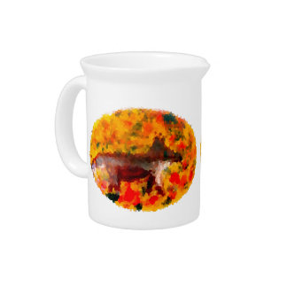 Autumn Fox Art Pitcher