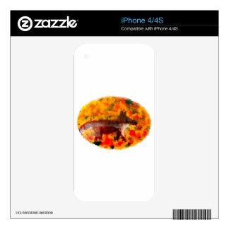 Autumn Fox Art Skin For iPhone 4S