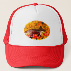 Autumn Fox Art Trucker Hat