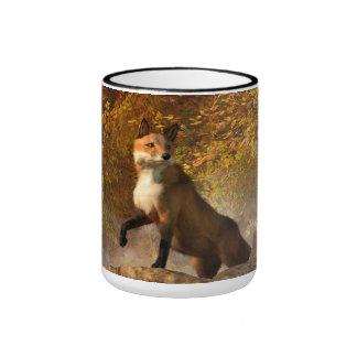 Autumn Fox Ringer Coffee Mug