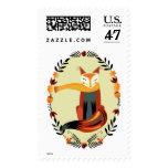 Autumn Fox Postage Stamp