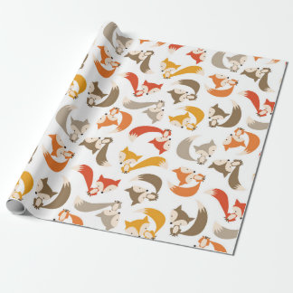 Autumn Fox Wrapping Paper