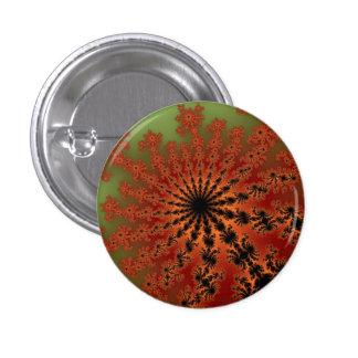 Autumn Fractal Burst Small Round Button