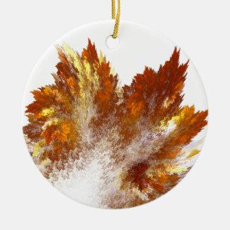 Autumn Fractal Spray Ceramic Ornament