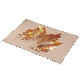 Autumn Fractal Spray Cloth Placemat