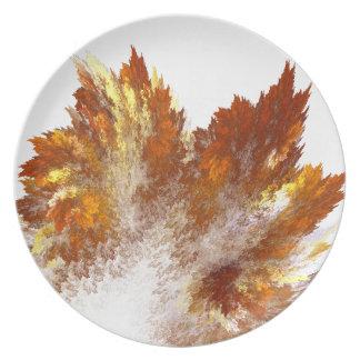 Autumn Fractal Spray Dinner Plate