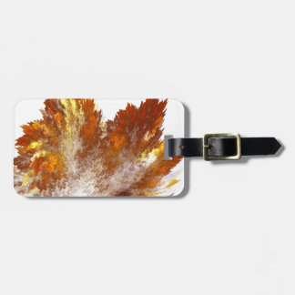 Autumn Fractal Spray Luggage Tag