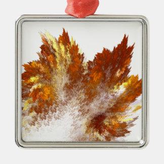 Autumn Fractal Spray Metal Ornament