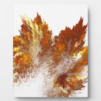 Autumn Fractal Spray Plaques