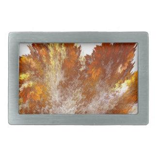 Autumn Fractal Spray Rectangular Belt Buckle