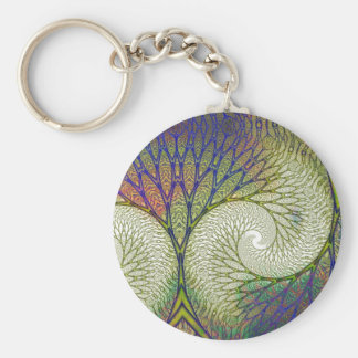 Autumn Fractal Tree Keychain