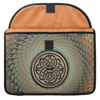 Autumn Fractal with Celtic Shield Knot Sleeve MacBook Pro Sleeves