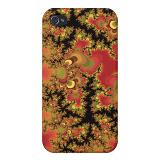 Autumn Fractals Cover For iPhone 4