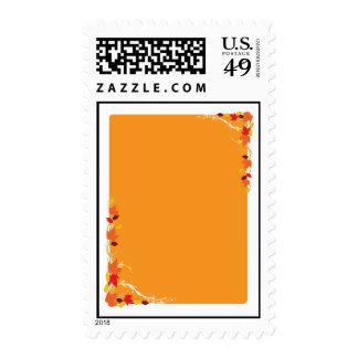 Autumn Frame Postage Stamps