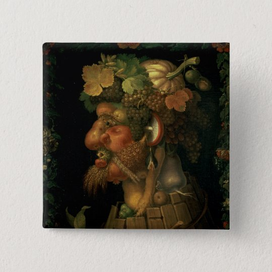 Autumn, from a series depicting the four pinback button