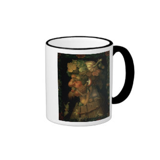Autumn, from a series depicting the four ringer mug