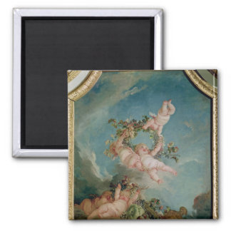 Autumn, from a series of the Four Seasons 2 Inch Square Magnet