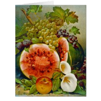 Autumn Fruits c1860 Card