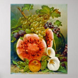 Autumn Fruits c1860 Posters