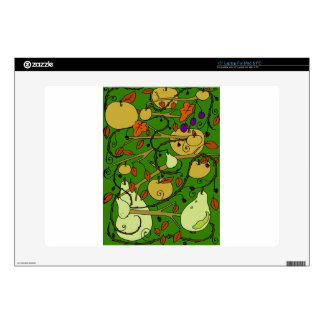 """Autumn fruits decals for 15"""" laptops"""