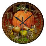 Autumn Fruits Wall Clock