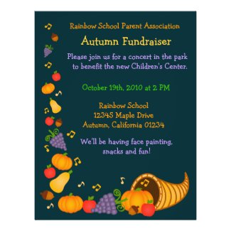Autumn Fundraiser Flyer Invitation