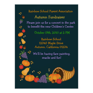 Autumn Fundraiser (Large Poster) Poster