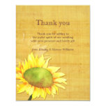 Autumn Garden Sunflower Wedding Thank U Flat Cards