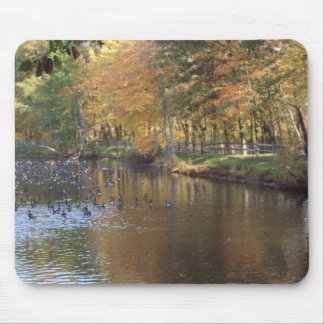Autumn Geese Mouse Pad