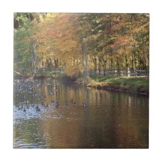 Autumn Geese Tile