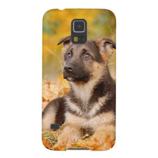 Autumn German shepherd dog puppy Case For Galaxy S5