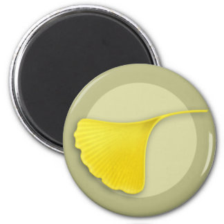 Autumn Ginkgo Leaf Magnet