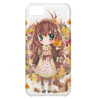 Autumn girl and cute squirell iPhone 5C covers