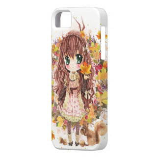 Autumn girl and cute squirell iPhone SE/5/5s case