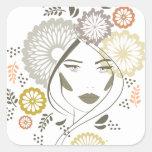 Autumn girl portrait sticker