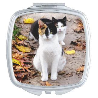 """Autumn Girls"" Compact Mirror"